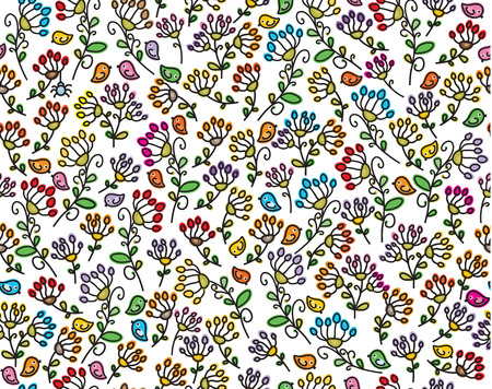 seamless floral: Vector seamless floral pattern. Illustration