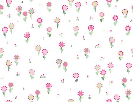 Vector seamless cute  floral pattern. Vector