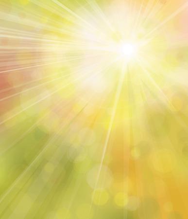 ベクター黄色い太陽の背景。