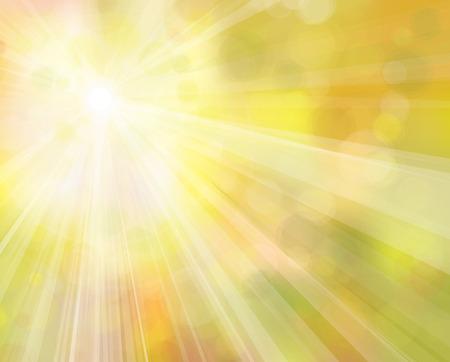 サンシャインの黄色のベクトルの背景。