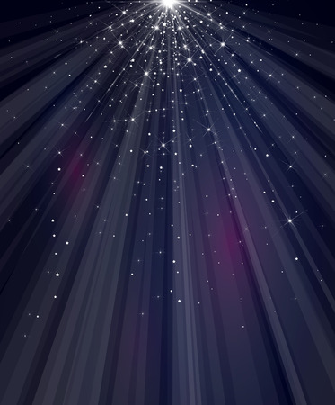 Vector sky  starry background.