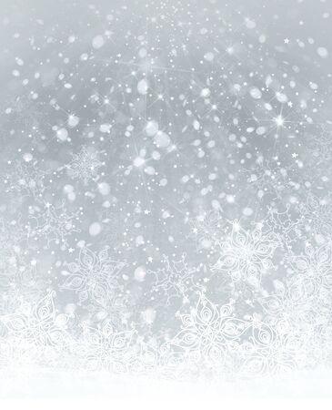 snow background: Winter snowflakes background.