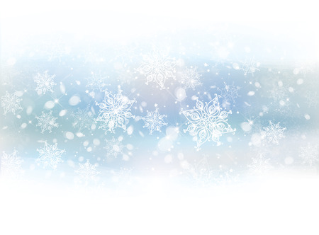 Vector winter snowflakes background.