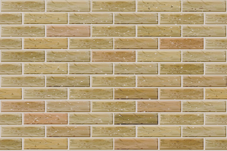 tiled wall: Vector seamless brick wall. Illustration