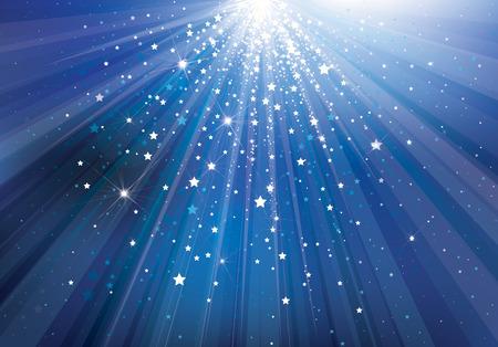 Vector hemel achtergrond met lichten en sterren.