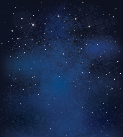 blue stars: Vector night starry sky background.