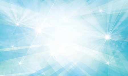 Vector blue background with rays and lights.