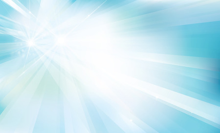 blue background with rays and lights.