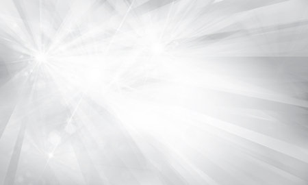grey backgrounds: Vector silver background with rays and lights.