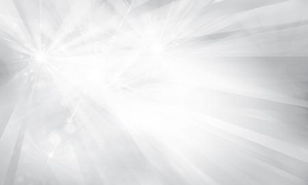 Vektor silver bakgrund med strålar och ljus.
