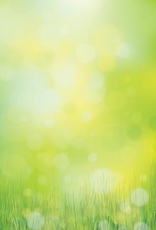 Vector green, bokeh, nature background.