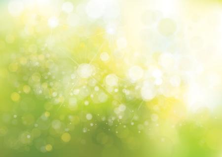 Światła: Wektor zielone światła tła.