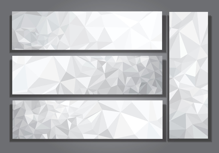 Vector abstract gray, triangles banners.  イラスト・ベクター素材