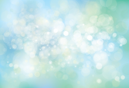 Vector lights, blue,  bokeh background.