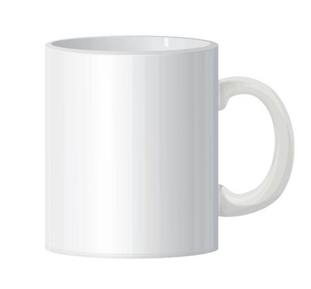mug: Vector classic white mug isolated.