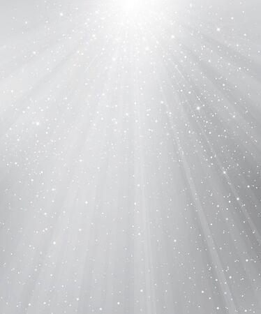 Vector grauen Hintergrund mit Lichtern und Sternen.