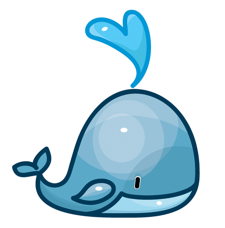toy fish: cute whale cartoon isolated.