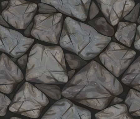 stonewall: Vector seamless texture of  grey stonewall.