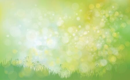 panoramic nature: Vector green  nature background. Illustration