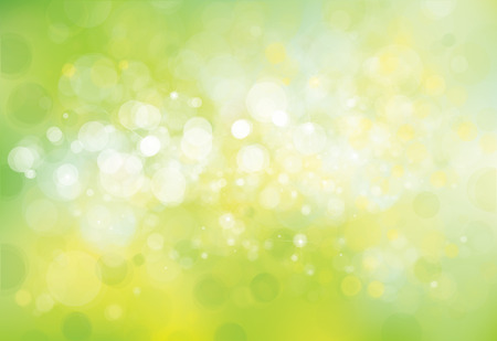 green and yellow: Vector green lights background. Illustration