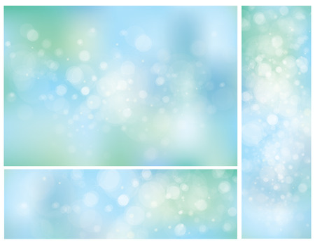 blue backgrounds: Vector blue bokeh backgrounds.