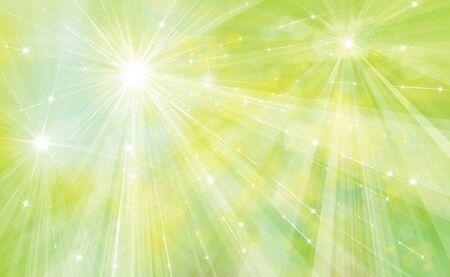 Vector grünen Hintergrund mit Strahlen, Sterne und Lichter.