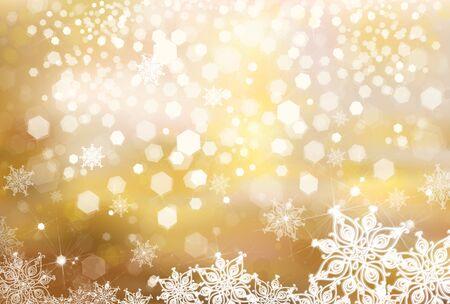 Vecteur de Noël de fond d'or.
