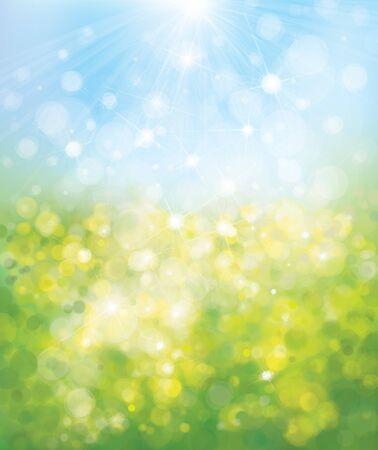 sunshine: Vector blurred nature background. Illustration
