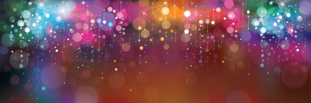 Vector colorful lights background. Stock Illustratie