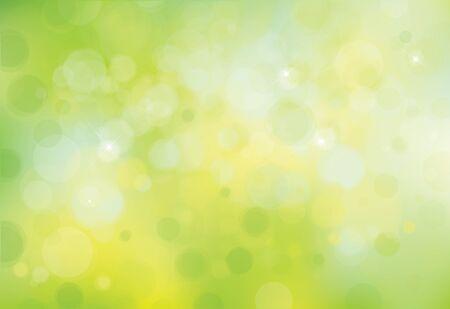sunbeam background: Vector green lights background. Illustration