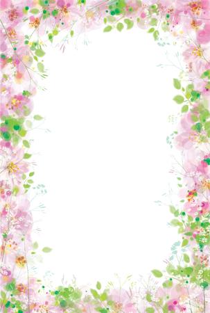 Vector spring floral  frame.