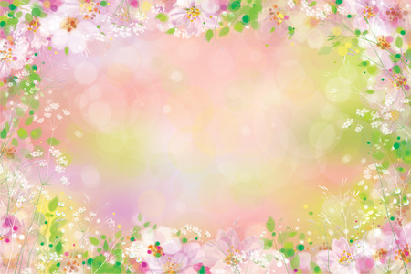 Vector lente bloemen achtergrond.