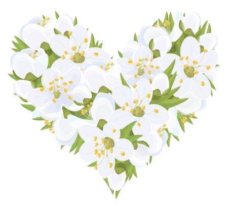 forme: Vector  floral  heart shape. Illustration