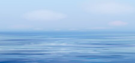 Vector blue sea  and sky  background. Illustration