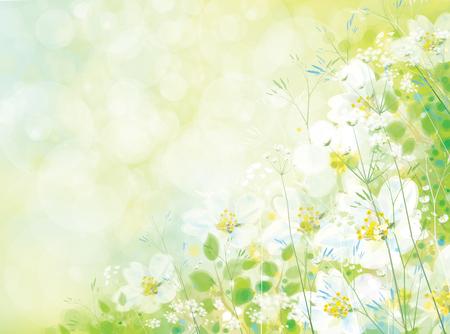 blossom background: Vector spring floral background.