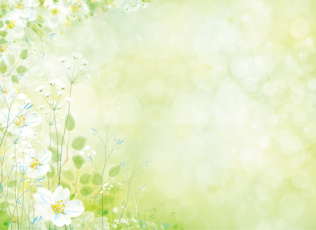 Vector spring floral pattern. 免版税图像 - 76800733