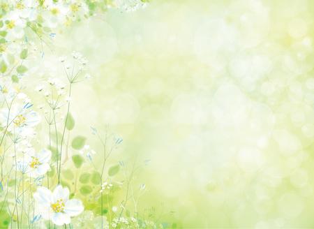 borde de flores: Vector spring floral pattern.
