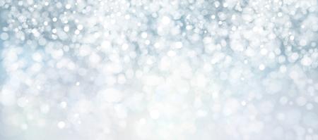벡터 파란색, 조명, bokeh 배경, 겨울 배경. 일러스트