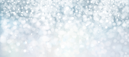 Vector blue, lights, bokeh background, winter background. 向量圖像