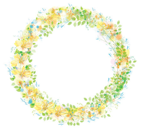 Vector floral Kreis Rahmen. Vektorgrafik
