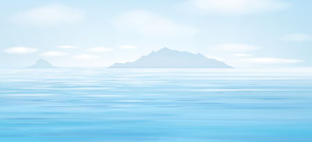 Vector blue sea background. Ilustrace