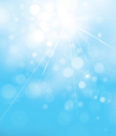 vecteur lumières bleues fond. fond de ciel
