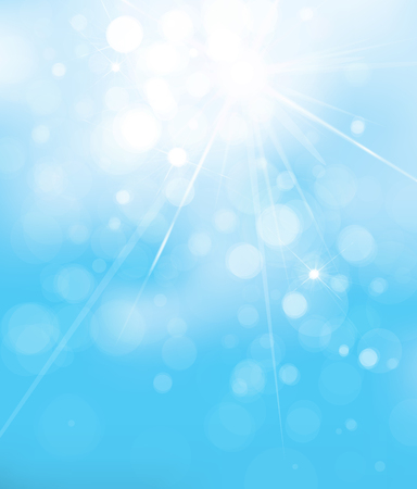 Vector blue lights background. Sky background.