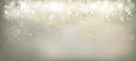 Silver, sparkle, lights vector holiday background.