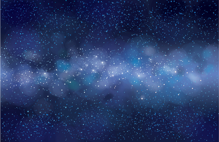Vector starry sky  background. Milky way galaxy.