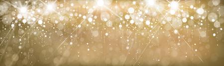 Vector golden, sparkle,  lights  banner. Illustration