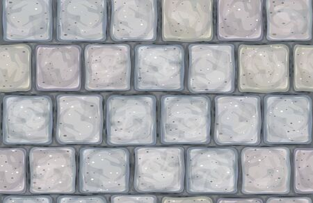 Vector seamless texture gray stone wall. Illustration