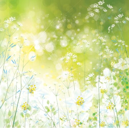 Vector spring, floral background. Nature background.