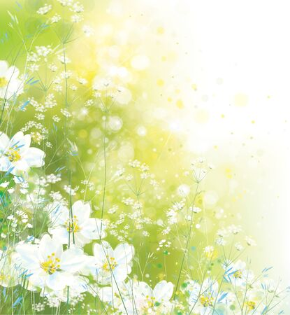 Vector  floral background. Nature background.