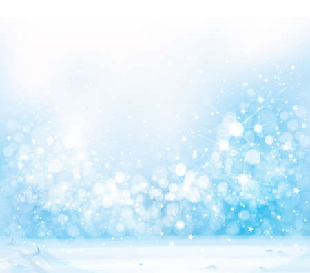Vector blue, snowy background for Christmas design. Winter background.